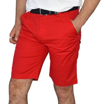 Calvin Klein Golf Chino Shorts - Red - Image 1