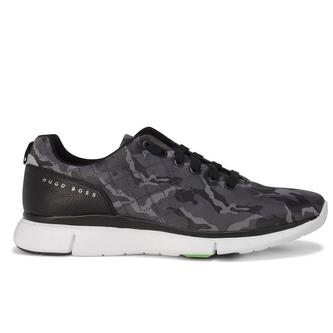 Hugo Boss Green Gym Run Trainers - Dark Grey - Image 1