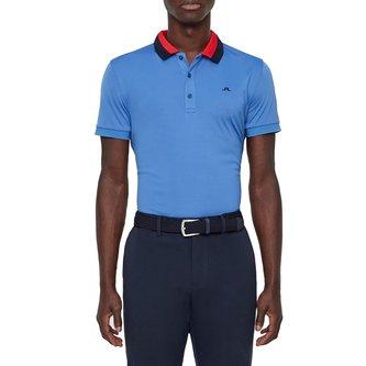 J.Lindeberg Mat Reg TX Golf Shirt - Work Blue - Image 1