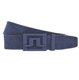 J.Lindeberg Slater 40 Brushed Leather Belt - Navy - Image 1