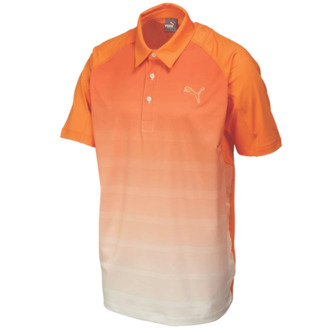 Puma Junior GT Titan Stripe Polo - Vibrant Orange - Image 1