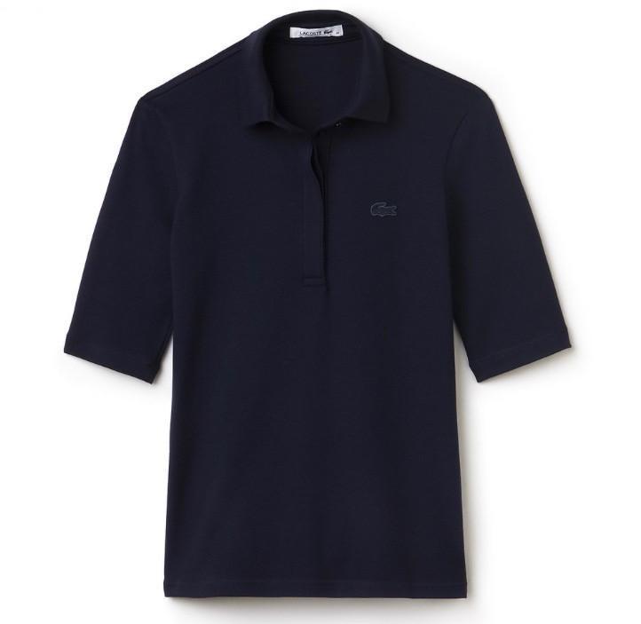 3/4 Sleeve 5 Button Polo - Navy - Image 1