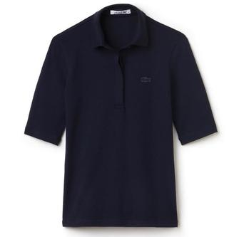 3/4 Sleeve 5 Button Polo - Navy - Image 1
