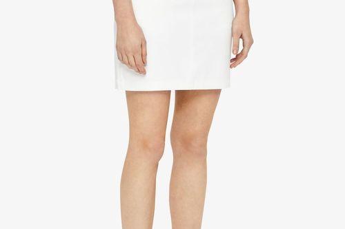 W Allie Skirt Micro Stretch Skort - White - Image 4