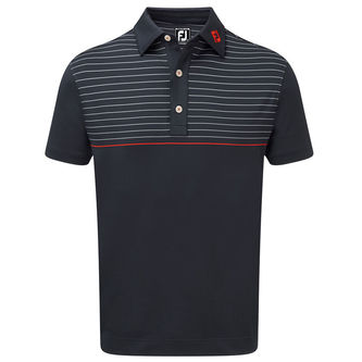 FootJoy Lisle Engineered Pinstripe Polo Shirt - Image 1
