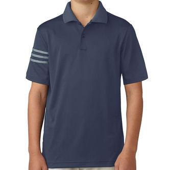 adidas Golf 3 Stripe Junior Polo Shirt - Image 1