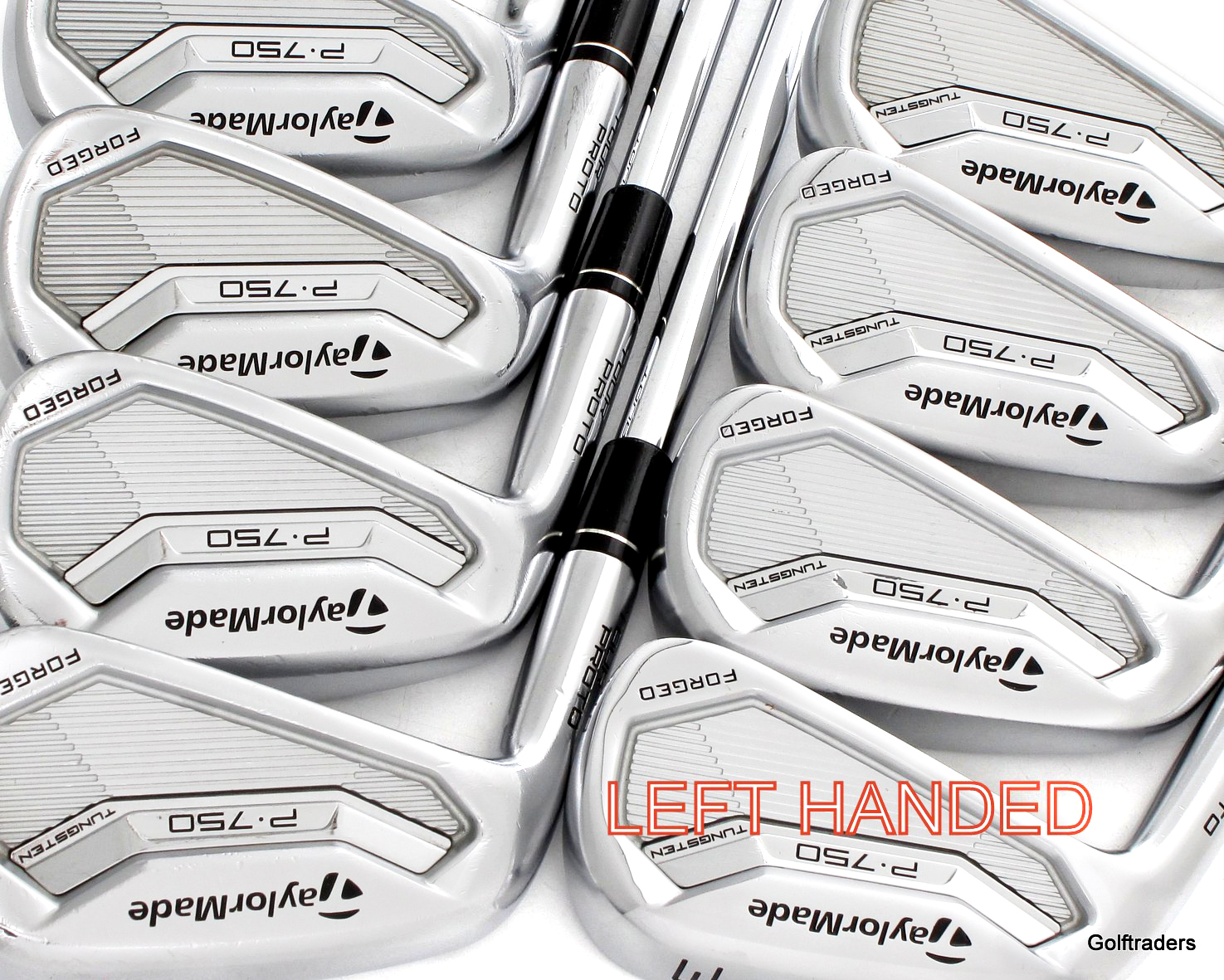 Taylormade Forged Tour Proto P-750 Irons 3-PW Steel Extra Stiff Flex LH F6008 - Image 1