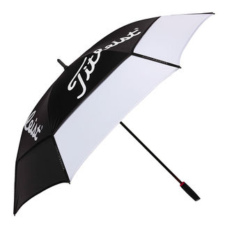Titleist Mens White and Black Lightweight Tour Double Canopy Umbrella - Image 1