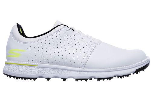 Skechers Mens White and Black Waterproof Go Golf Elite V.3 Approach LT-RF Golf Shoes - Image 1