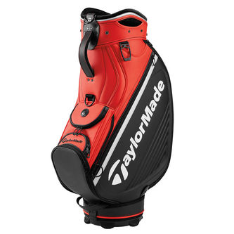 TaylorMade Black and Orange Tour Golf Cart Bag - Image 1