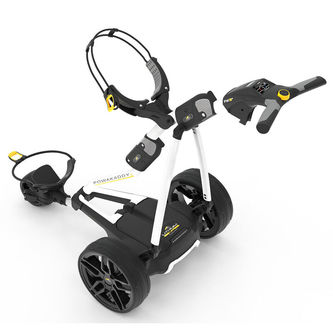 PowaKaddy White Stylish FW3s 36 Hole Battery Lithium Golf Trolley 2019 - Image 1