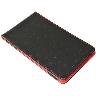 Second Chance Black and Red ON PAR Premium Ostrich Scorecard Holder - Image 1