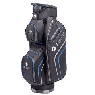 Motocaddy Black and Blue Lite-Series Golf Cart Bag - Image 1
