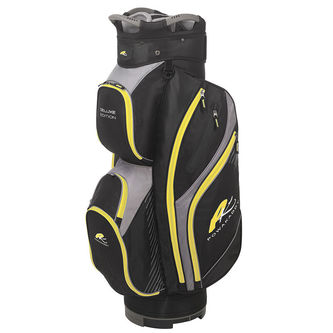 PowaKaddy Black Yellow Deluxe Edition Golf Cart Bag - Image 1