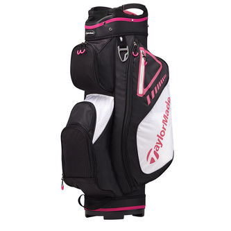 TaylorMade Black and Pink Lightweight Select Plus Golf Cart Bag - Image 1