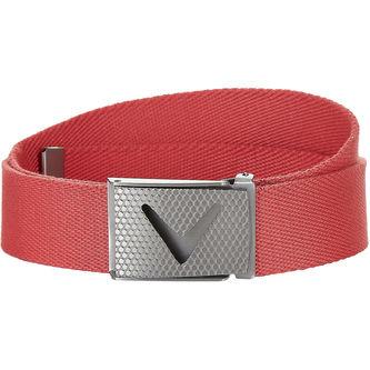 Callaway Golf Mens Pink Long Lasting Solid Webbed Belt - Image 1