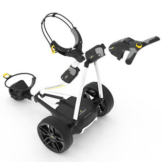 PowaKaddy White Stylish FW3s 18 Hole Lithium Golf Trolley 2019 - Image 1