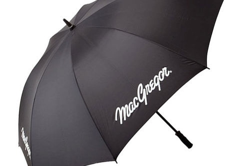 MacGregor Mens Black Lightweight Single Canopy Umbrella - Image 1
