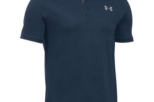 Under Armour Kids Navy Blue and Grey Performance Junior Golf Polo Shirt - Image 1