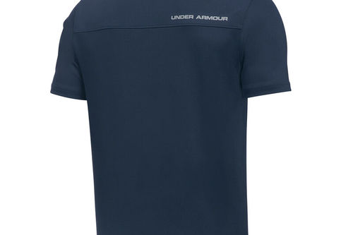 Under Armour Kids Navy Blue and Grey Performance Junior Golf Polo Shirt - Image 2