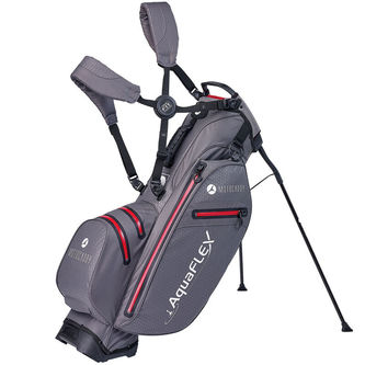 Motocaddy Charcoal Grey and Red Lightweight AquaFLEX Golf Stand Bag - Image 1