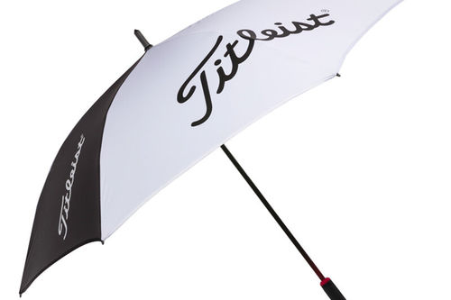 Titleist Mens White and Black Lightweight Tour Single Canopy Umbrella - Image 1