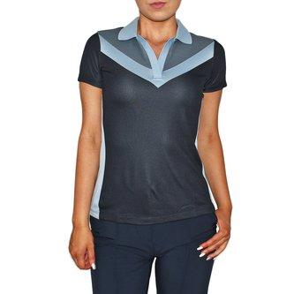 J.Lindeberg Women's Lilly TX Jaquard Golf Shirt - Navy - Image 1