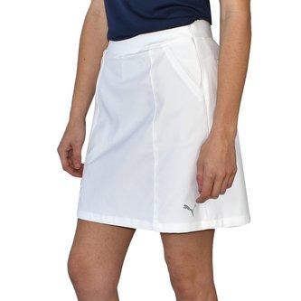 "Puma Women's 18"" Pounce Golf Skirt - White - Image 1"