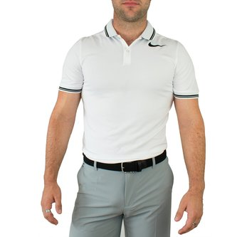Nike Modern Fit TR Dry Tipped Golf Shirt - White - Image 1