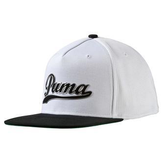 Puma Script Snapback Cap - White/Black - Image 1