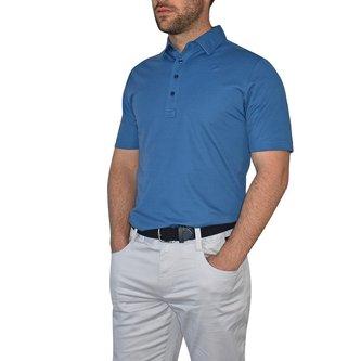 Travis Mathew The Ten Year Golf Shirt - Vintage Indigo - Image 1