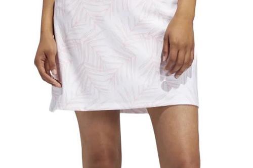 adidas Golf Women's Ultimate365 Printed Skirt -Glow Pink/White - Image 1