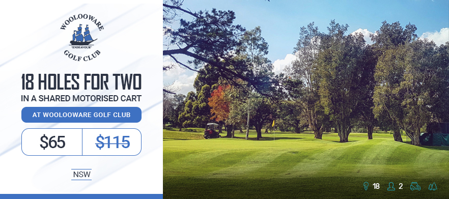 18 Holes For TWO in a Cart at Woolooware Golf Club