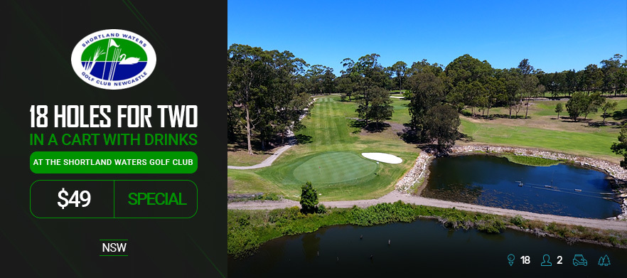 18 Holes For TWO in a Cart with Drinks at the Newly Renovated Shortland Waters Golf Course!