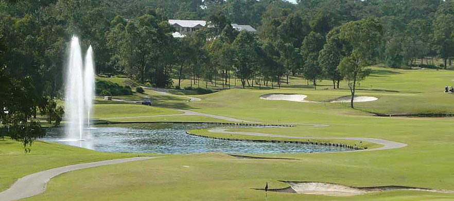One of Sydney's Top Courses! 18 Holes For TWO with a Motorised Cart each plus Drinks at Riverside Oaks Golf Resort!