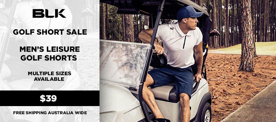 BLK Sport - Golf Short Sale! - Mens Leisure Golf Short LIGHT GRAVEL - Multiple Sizes Available