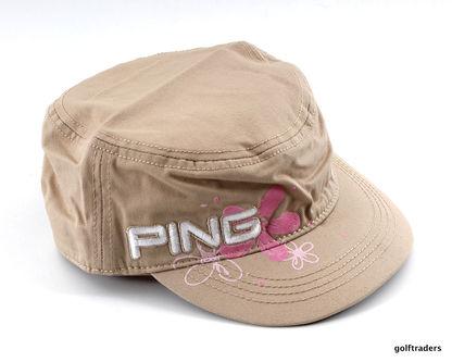 New Ping Ladies Ranger Golf Cap Beige G4237 - Image 1