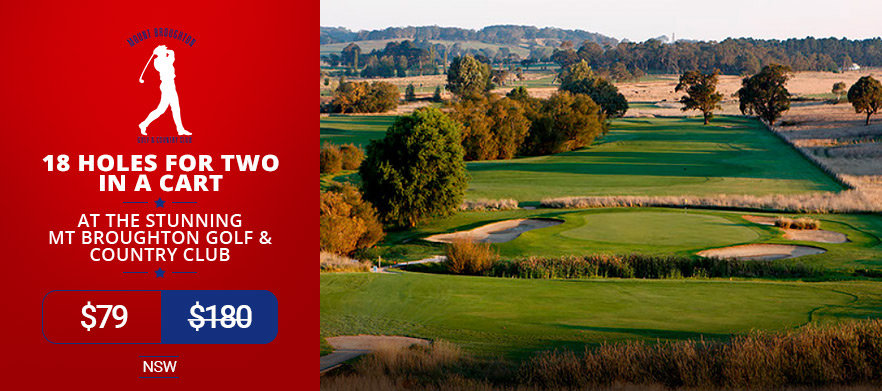 18 Holes for Two in a Cart at the Stunning Mt Broughton Golf & Country Club.