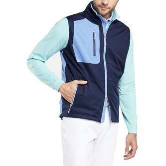 Peter Millar Gale Force Softshell Stretch Vest - Navy - Image 1