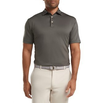 Peter Millar Solid Performance Polo - Iron - Image 1