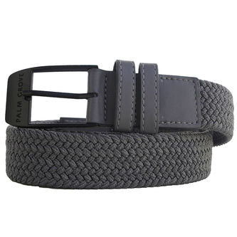 Palm Grove Mens Grey Comfortable Woven Belt - Image 1