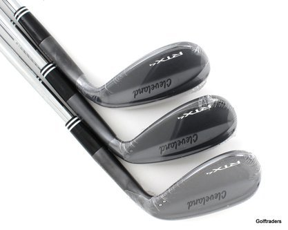 New Cleveland RTX-4 Black Satin Wedge Set Gap, Sand, Lob Steel Wedge H992 - Image 1