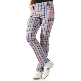 GOLFINO Ladies Checked Stretch Golf Trousers - Image 1