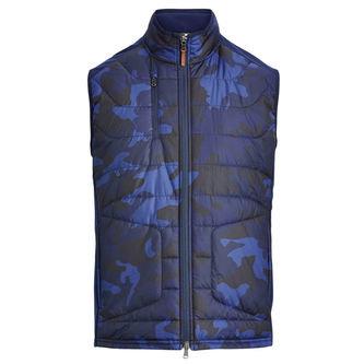 Ralph Lauren RLX Camo Paneled Stretch Full-Zip Vest - Image 1