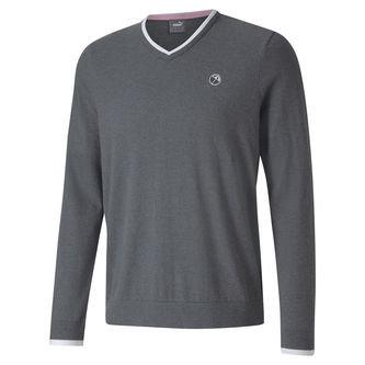 PUMA Golf Arnold Palmer Members V-Neck Golf Sweater - Image 1