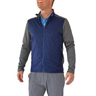 KJUS Retention Jacket - Atlanta Blue/Steel Grey Melange - Image 1