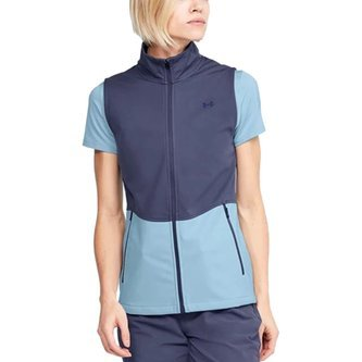 Under Armour Women's Soft Shell Vest - Ink Blue/Frost Blue - Image 1