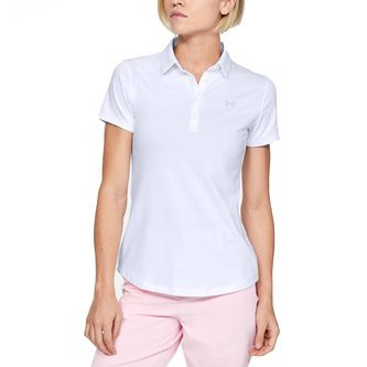 Under Armour Women's Zinger Short Sleeve Polo Golf Shirt - White - Image 1