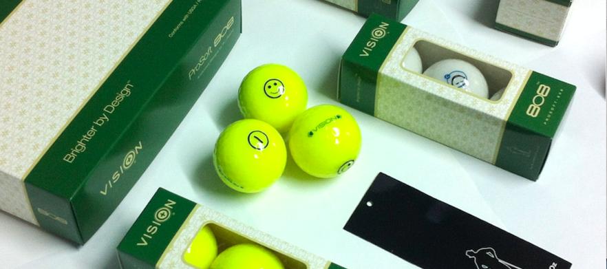 48 Super Bright Yellow Vision Golf Balls