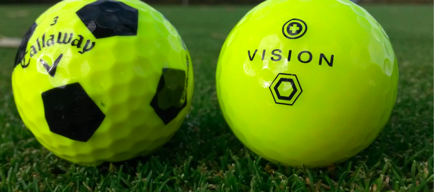 24 Brand New Yellow Vision Golf Balls